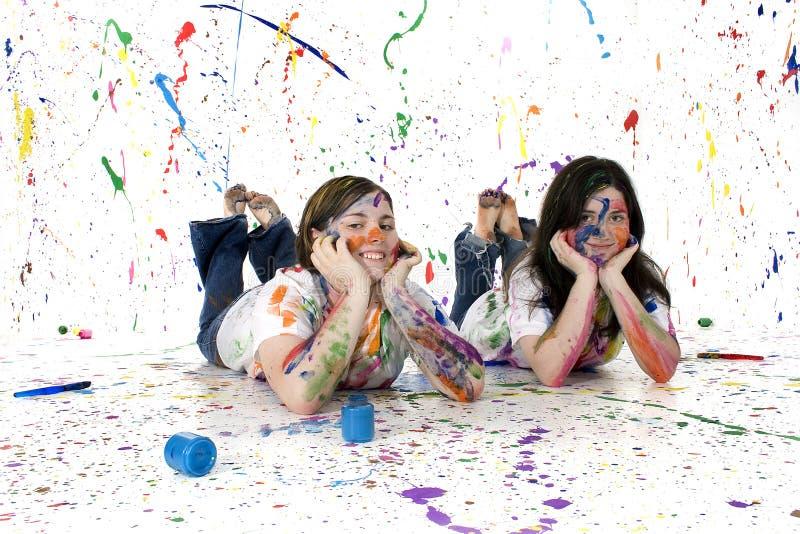 artysta nastolatków. zdjęcie stock