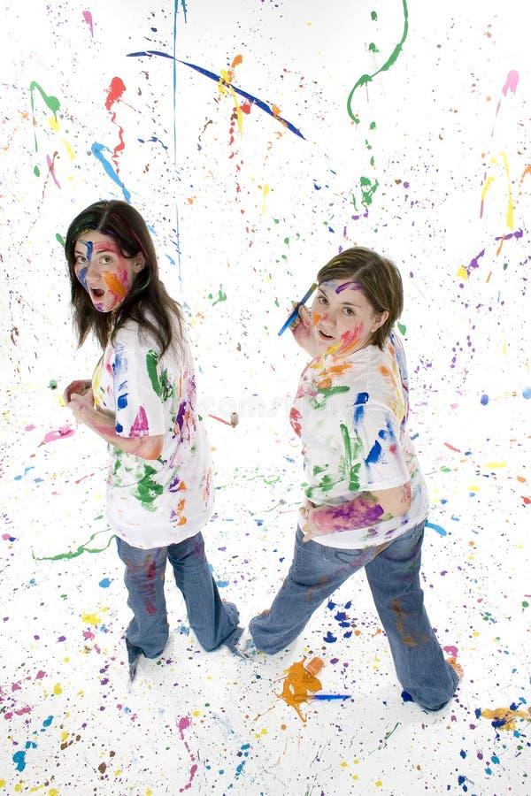artysta nastolatków. obrazy stock