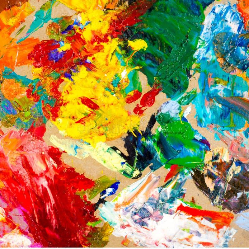 Artysta paleta zdjęcie stock