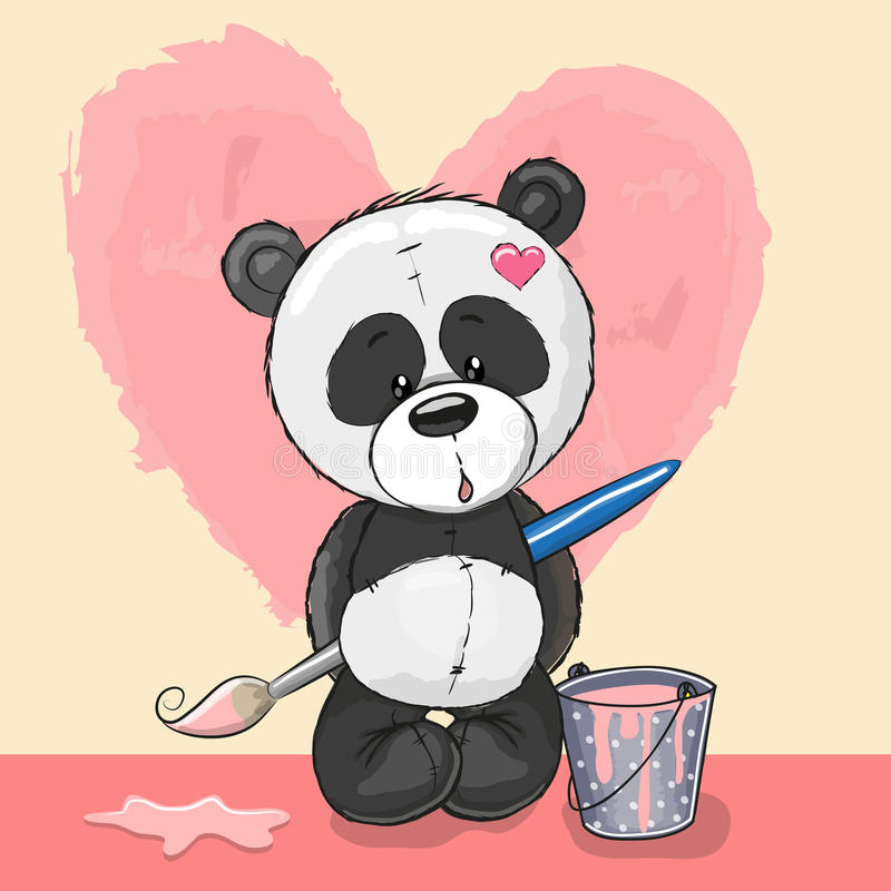 Artysta panda ilustracja wektor