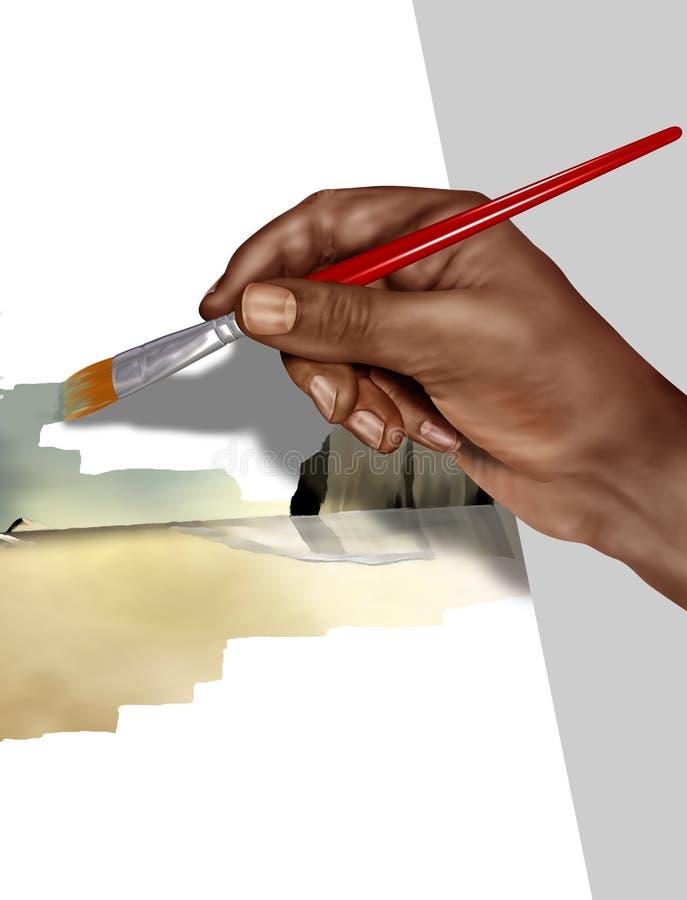artysta praca ilustracja wektor