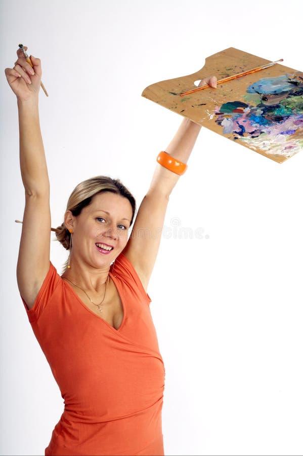artysta szczęśliwy zdjęcia stock