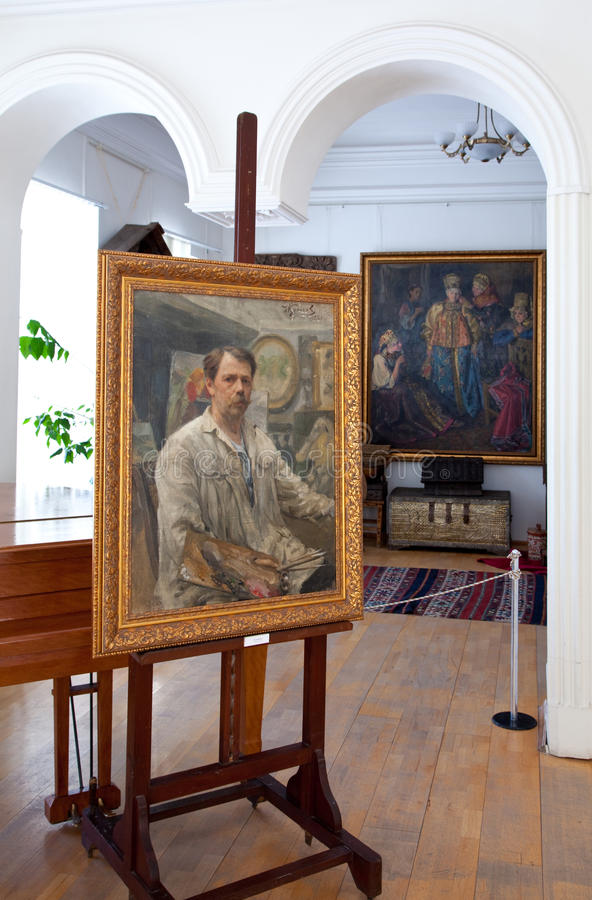 artysty galery ivan kulikov portreta jaźń zdjęcie stock