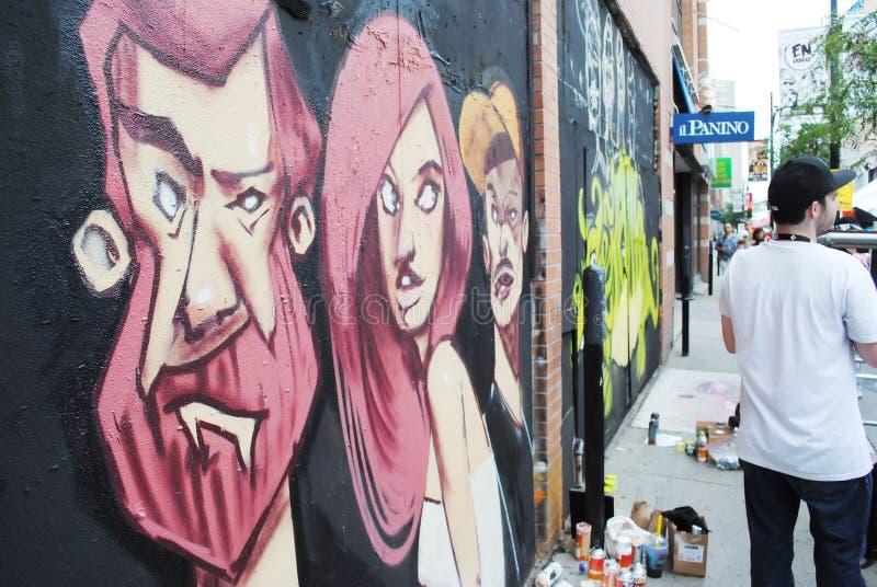 Artysty & graffiti kiści puszka obrazy stock
