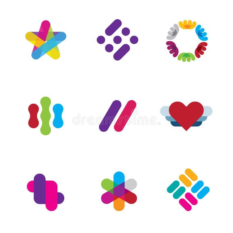Artysty kreatywnie proces loga inspiraci firmy symbolu ikon ilustracyjny logo royalty ilustracja
