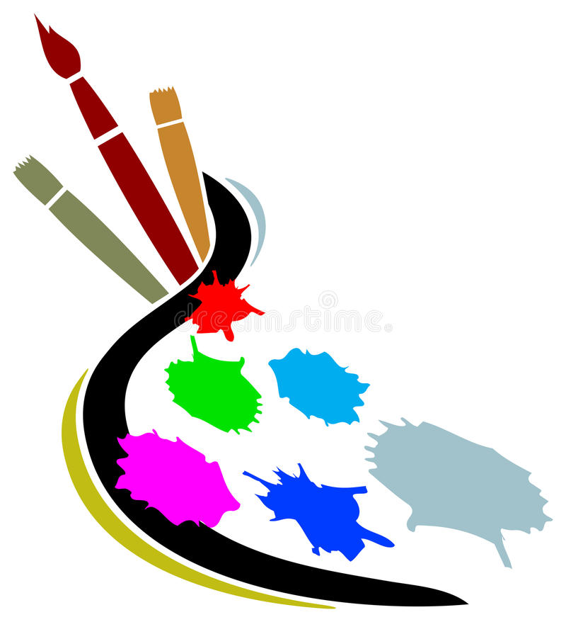 artysty loga studio ilustracja wektor