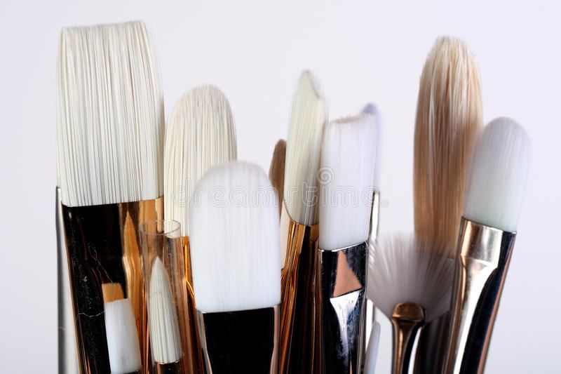 artysty muśnięć farba obraz stock
