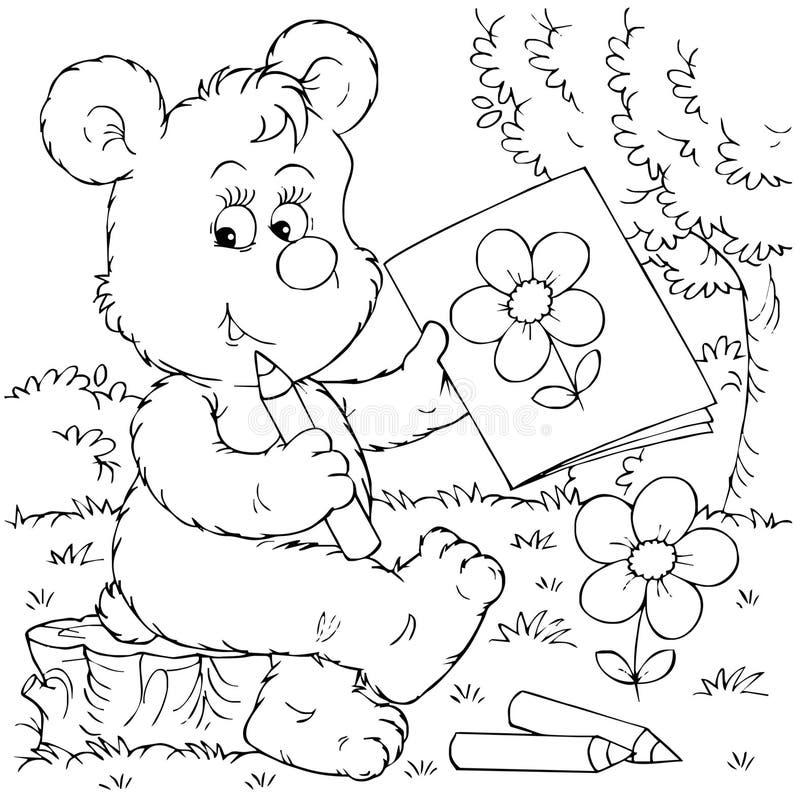 artysty niedźwiedź ilustracja wektor