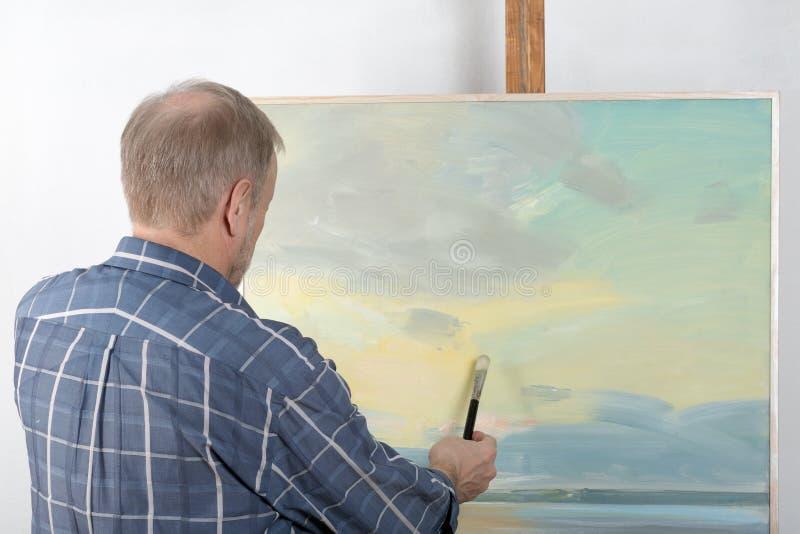 Artysty obraz w studiu obraz royalty free