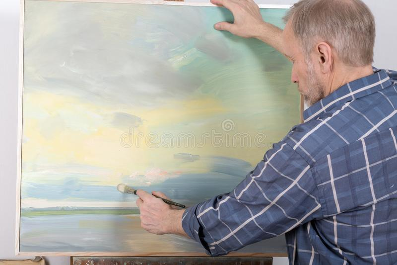 Artysty obraz w studiu zdjęcie stock