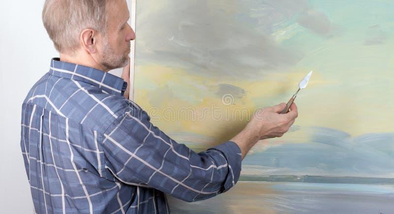 Artysty obraz w studiu obrazy royalty free