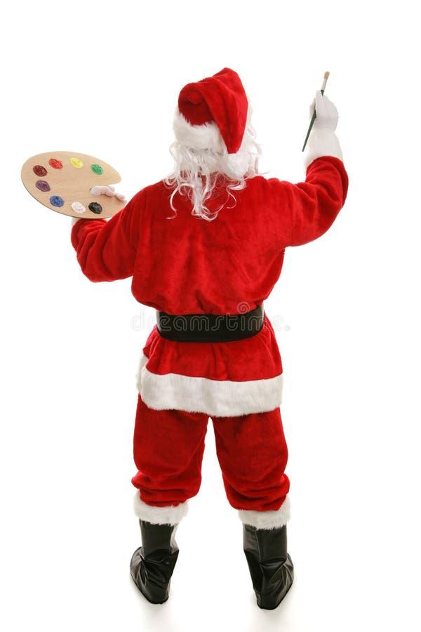 artysty pełny tylni Santa widok obraz stock