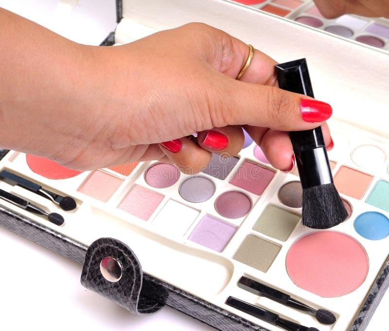 artysty ręki makeup zdjęcia stock