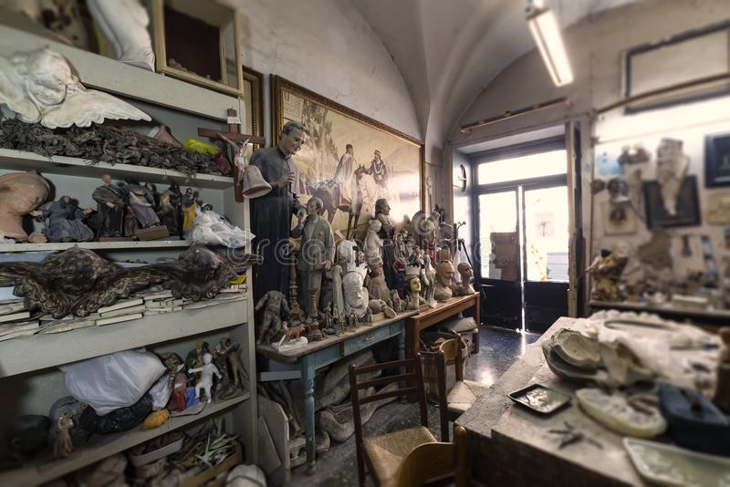 Artysty studio, rzeźby i statuy, royalty ilustracja