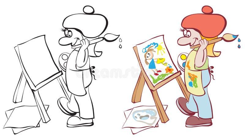artysty sztalugi obraz ilustracji