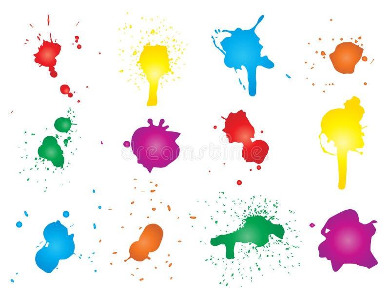 Artystyczna grungy farby kropla, ręcznie robiony kreatywnie royalty ilustracja