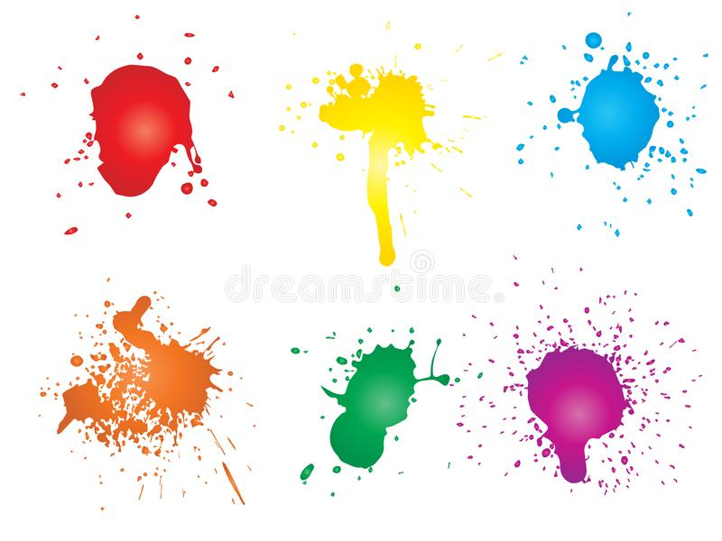Artystyczna grungy farby kropla, ręcznie robiony kreatywnie pluśnięcie royalty ilustracja