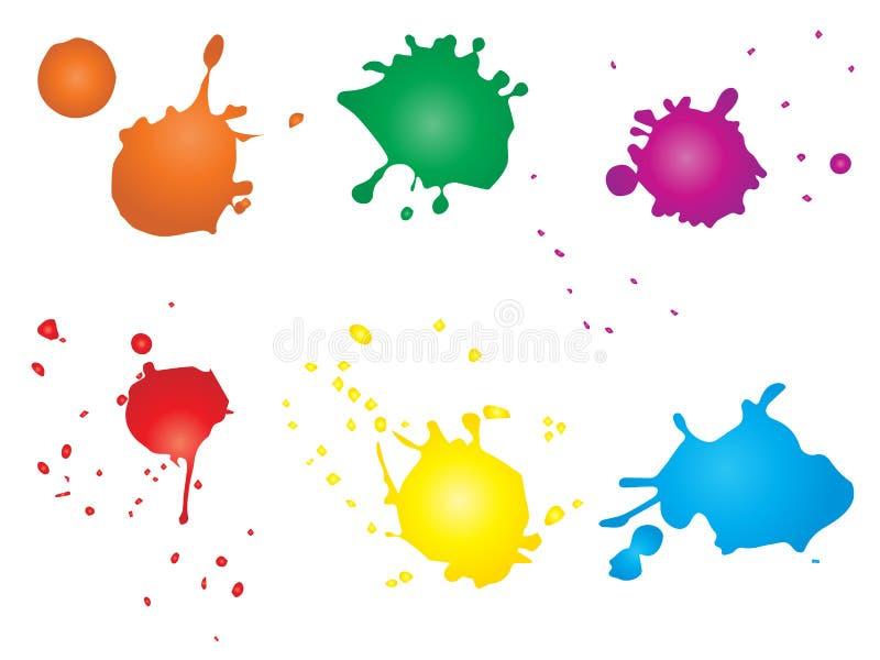 Artystyczna grungy farby kropla, ręcznie robiony pluśnięcie royalty ilustracja