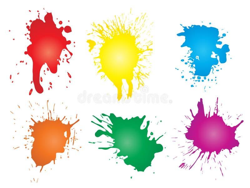 Artystyczna grungy farby kropla, ręcznie robiony pluśnięcie ilustracja wektor