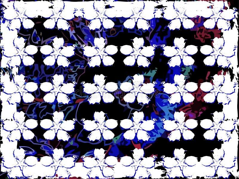 Artystyczna tekstura z kwiatami na kolorowym tle obraz stock