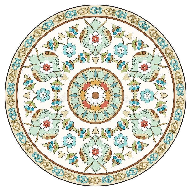 Artystyczne ottoman wzoru serie dziesięć ilustracja wektor