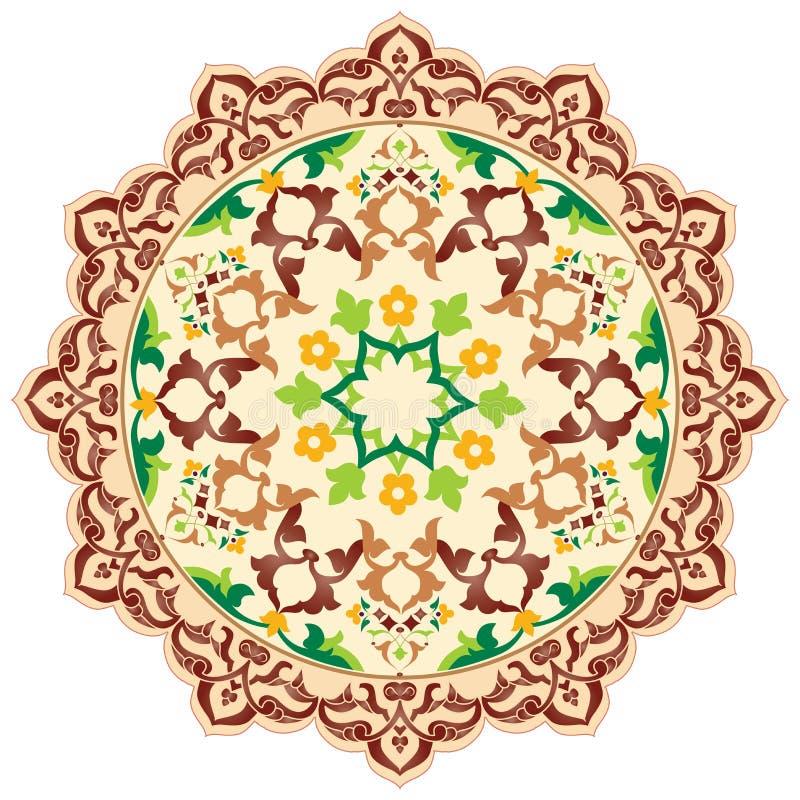 Artystyczne ottoman wzoru serie dziewięćdziesiąt sześć ilustracja wektor