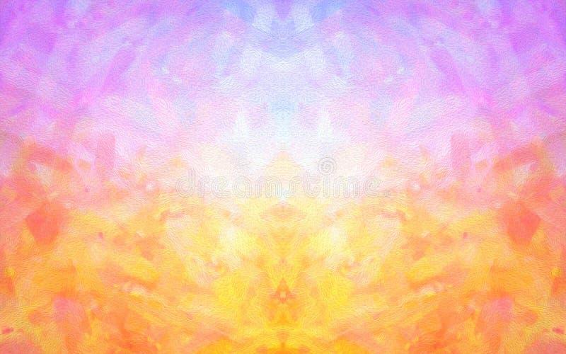 Artystycznego złudzenia holograficzny abstrakcjonistyczny tło z nowożytnymi jaskrawymi menchiami i pomarańczowym kolorem royalty ilustracja