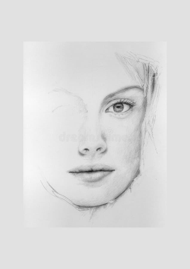 artystycznej portret kobiety ilustracji