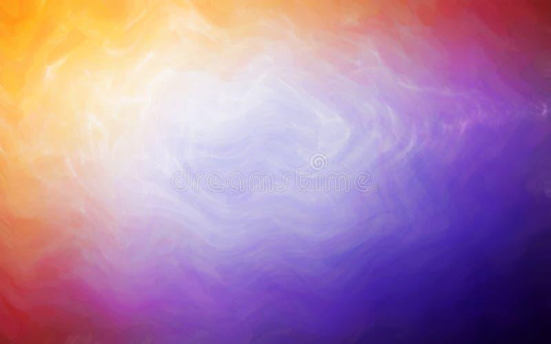 Artystyczny abstrakcjonistyczny tło z akwarela stylu grafiki muśnięciem z nowożytnym ultrafioletowym kolorem ilustracja wektor