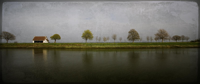 artystyczny fasonujący krajobrazowy stary obraz stock