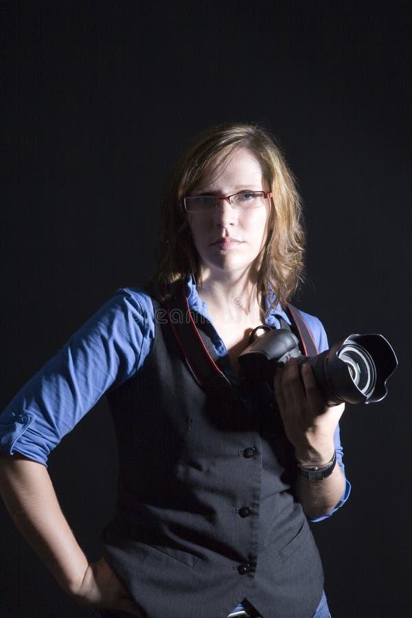 Artystyczny fotografa portret zdjęcie stock