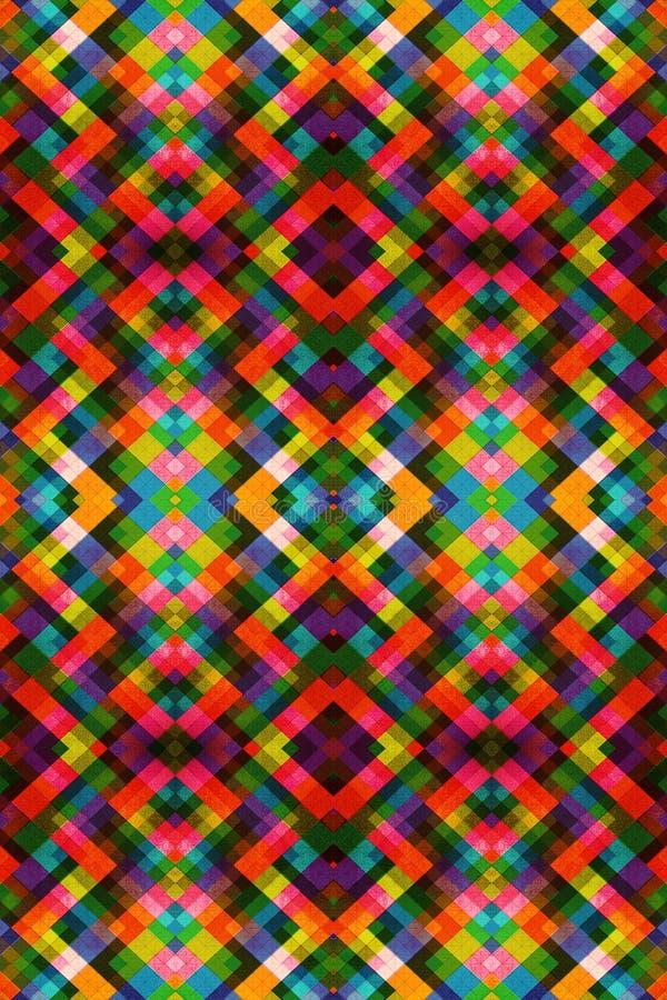Artystyczny komputer wytwarzający abstrakta 3d fractal kolory deseniują grafikę royalty ilustracja