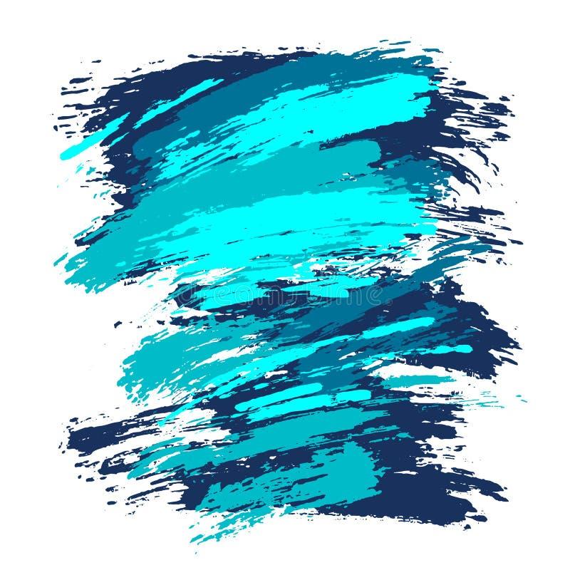 Artystyczny kwadratowy tło, wektor z muśnięciem muska różnorodnych kolory, nafcianej farby spojrzenia tło z kolorowym malującym ilustracja wektor