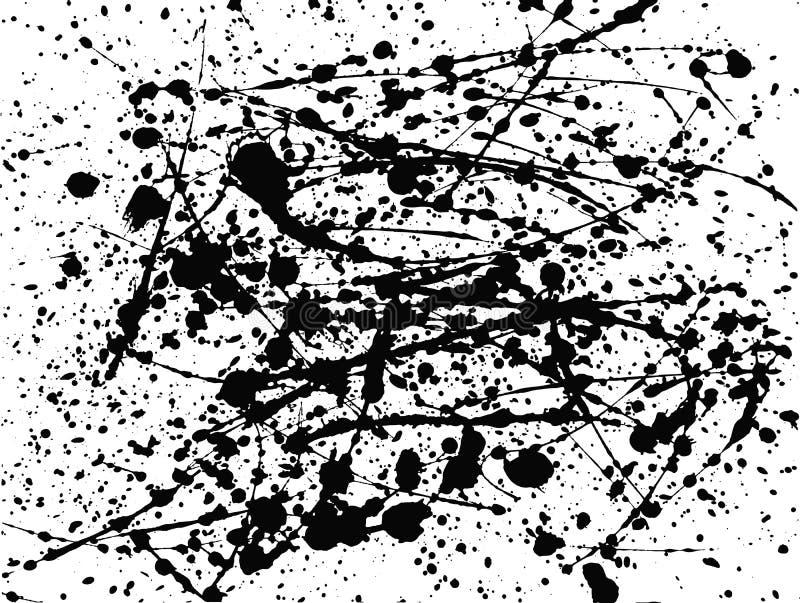 Artystyczny malujący tło od farb blotches i splats ilustracja wektor