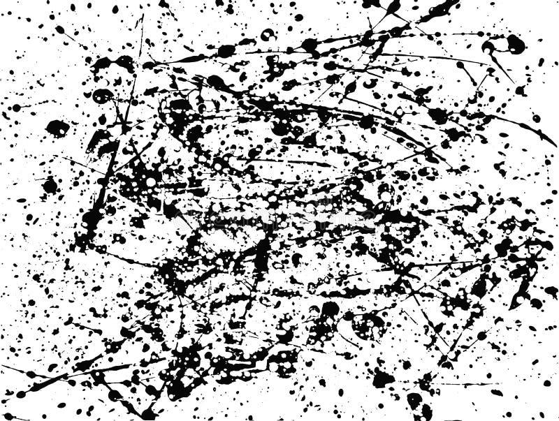Artystyczny malujący tło od farb blotches i splats ilustracji