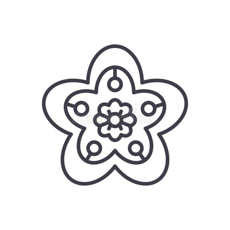 Artystyczny rękodzieła czerni ikony pojęcie Artystycznego rękodzieła płaski wektorowy symbol, znak, ilustracja ilustracja wektor