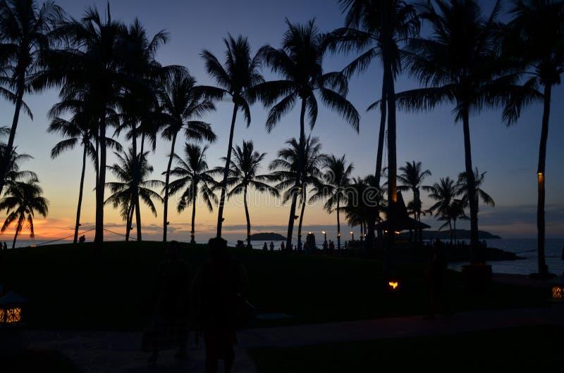 Aru Sabah del tanjung de la puesta del sol foto de archivo libre de regalías