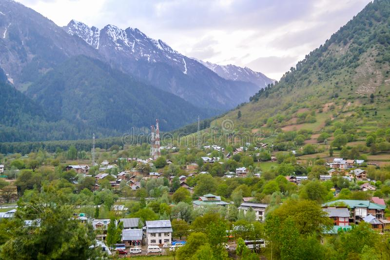 Aru Valley a fairytale tourist spot in Anantnag District of Jammu and Kashmir, India. Located near Pahalgam noted for its sscenic stock images