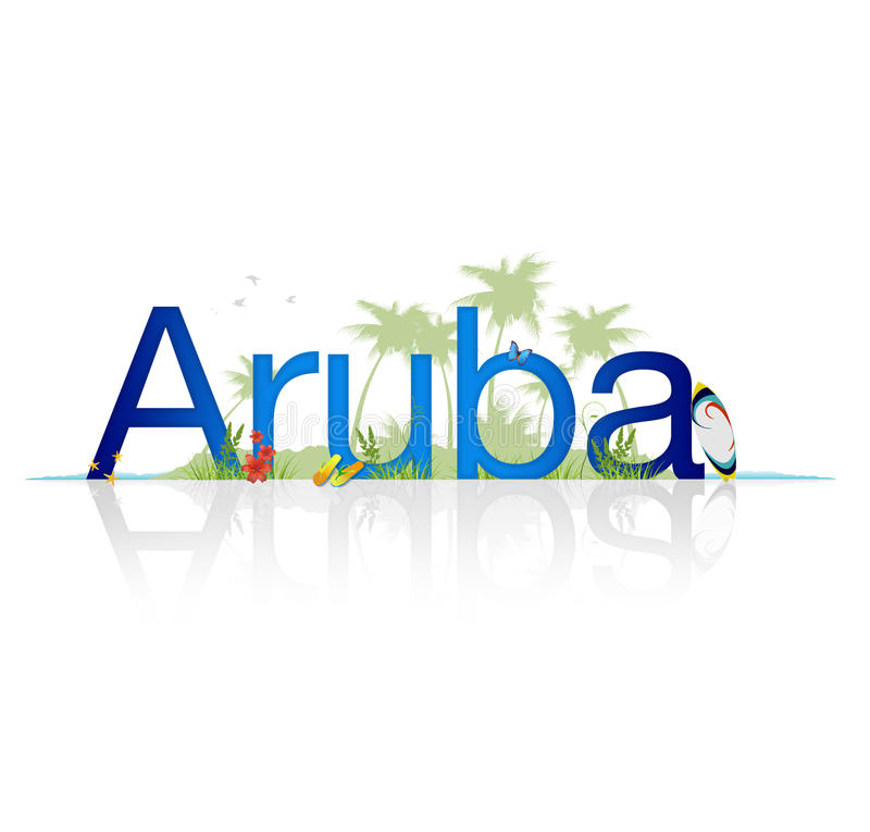 Aruba vector illustratie