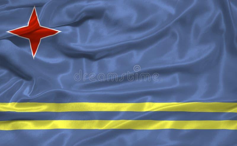 Aruba 3 flagę ilustracja wektor