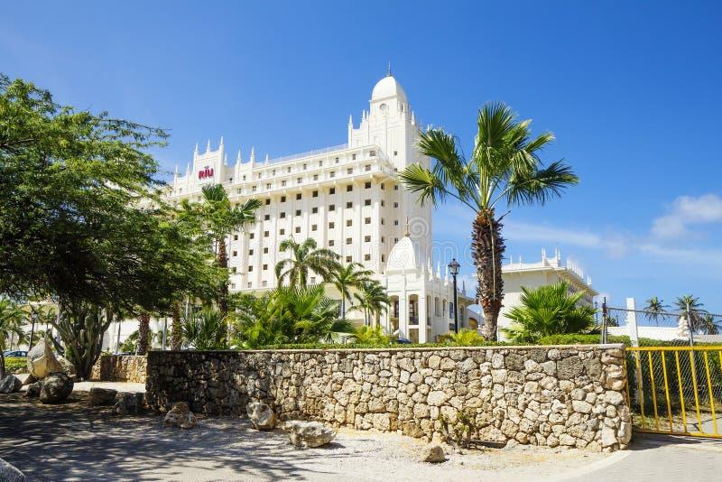 Aruba, Caribbean, Hotel Riu Palace Aruba. royalty free stock photo