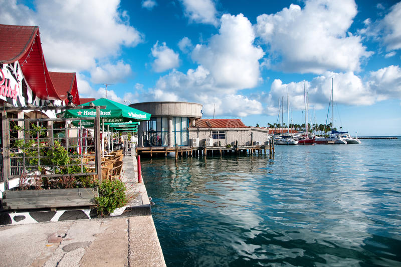 Aruba (Caribbean) - House exteriors at Oranjestad royalty free stock photography