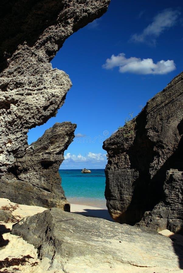 Aruba cliffs royalty free stock photos