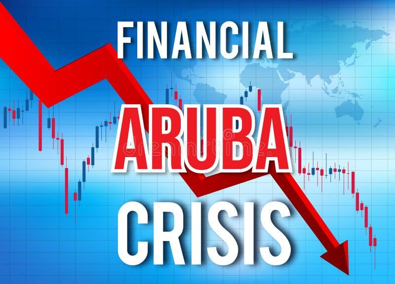 Aruba Financial Crisis Economic Collapse Market Crash Global Meltdown. Illustration royalty free illustration