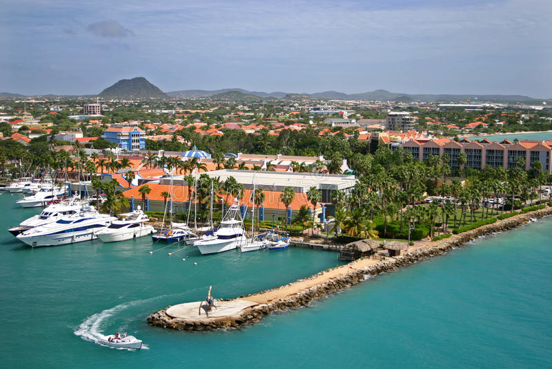 Aruba Harbor royalty free stock image