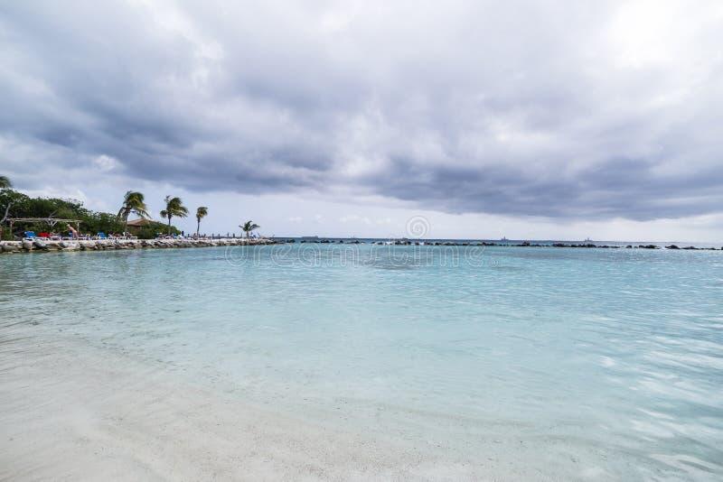 Aruba, karibischer Strand, FlamingoBeach von Aruba lizenzfreies stockfoto