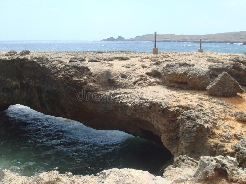 Aruba Land Bridge stock photo