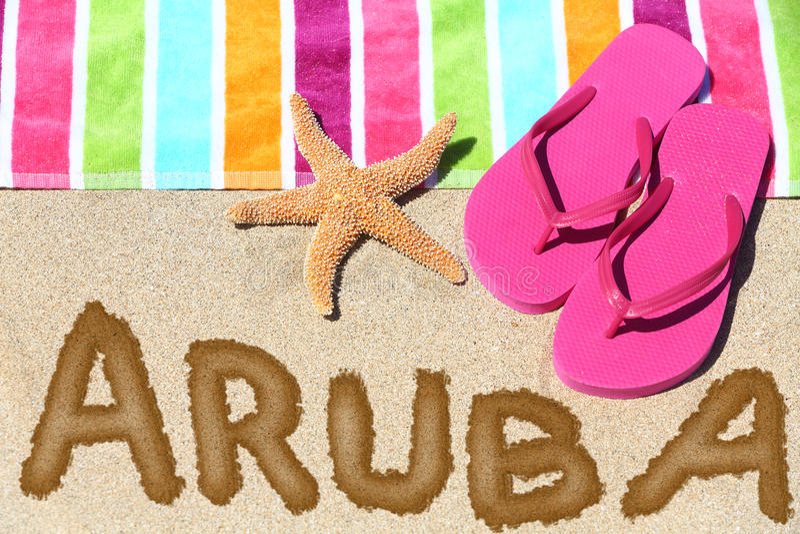 Aruba plaży podróż obraz stock