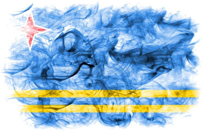 Aruba rökflagga, nederländsk beroende territoriumflagga arkivbilder