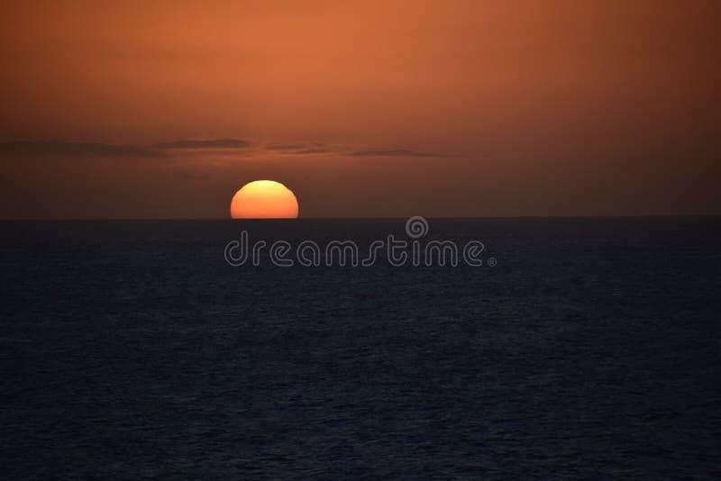 Aruba-Sonnenuntergang stockfotografie